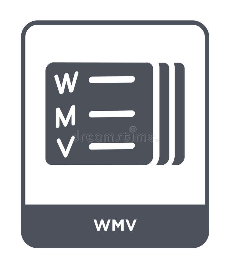 wmv εικονίδιο στο καθιερώνον τη μόδα ύφος σχεδίου wmv εικονίδιο που απομονώνεται στο άσπρο υπόβαθρο wmv διανυσματικό απλό και σύγ απεικόνιση αποθεμάτων