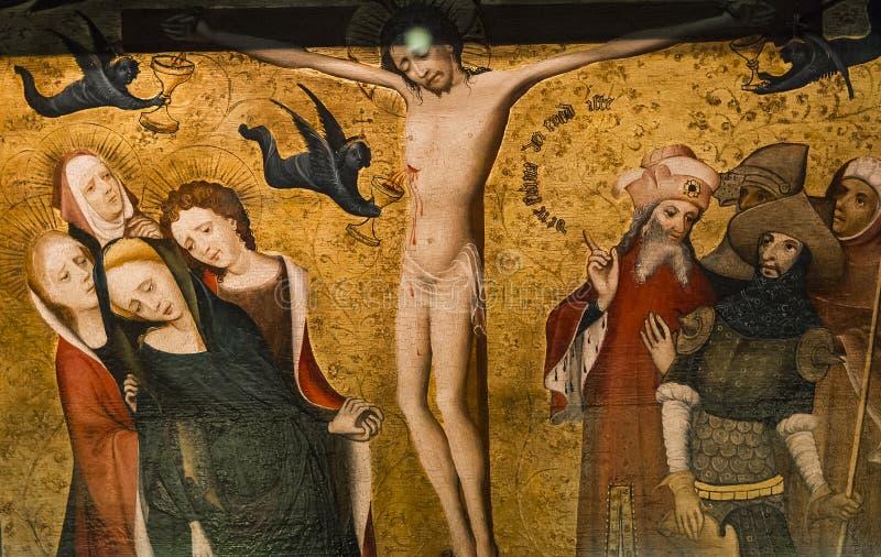 Wnętrza świętego Salvator katedra, Bruges, Belgia zdjęcia stock