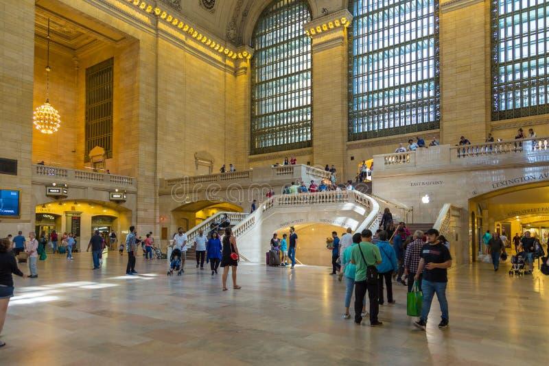 Wnętrza i szczegóły Uroczysty Środkowy Terminal w Nowy Jork obraz stock