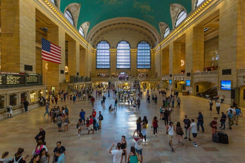 Wnętrza i szczegóły Uroczysty Środkowy Terminal w Nowy Jork obrazy royalty free