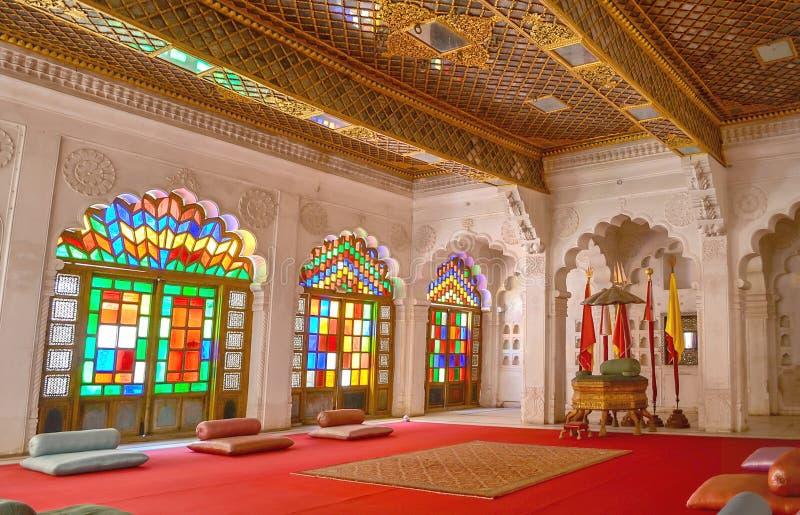 Wnętrza Mehrangarh fort zdjęcia stock