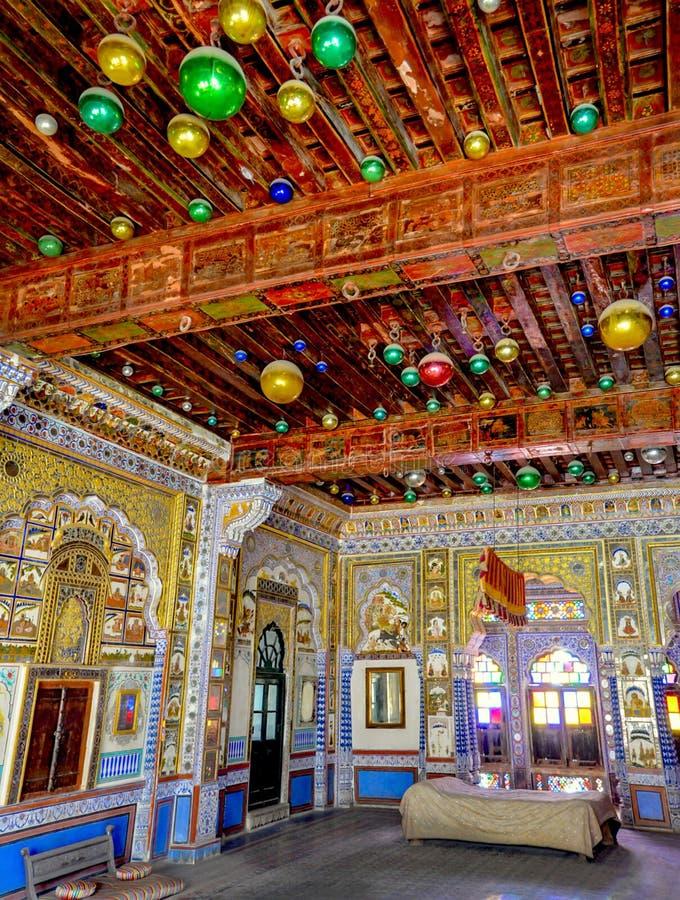 Wnętrza Stary fort, India zdjęcia royalty free