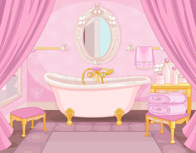 Wnętrze łazienka w kasztelu ilustracja wektor