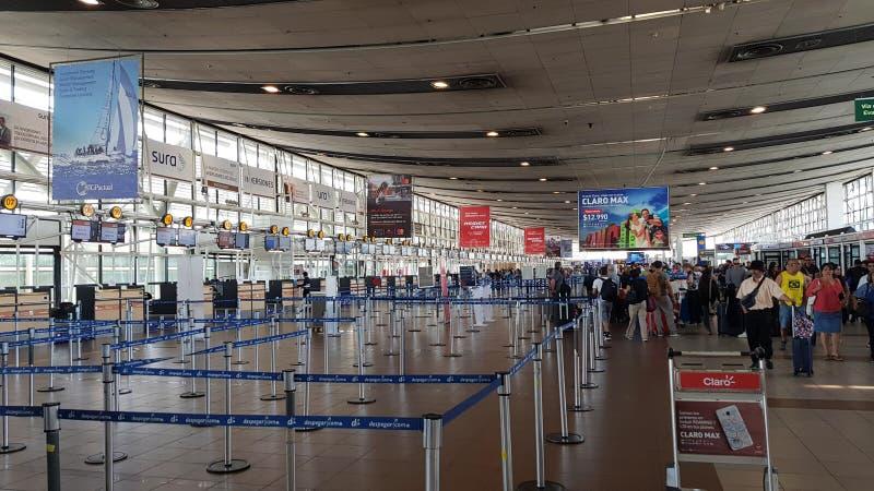 Wnętrze śmiertelnie Santiago de Chile Arturo benÃtez lotniskowy Merynosowy lotnisko międzynarodowe, Chile obraz royalty free