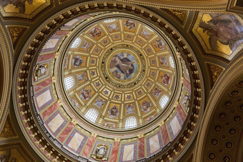 Wnętrze świętego Stephen bazylika w Budapest, Węgry obraz stock