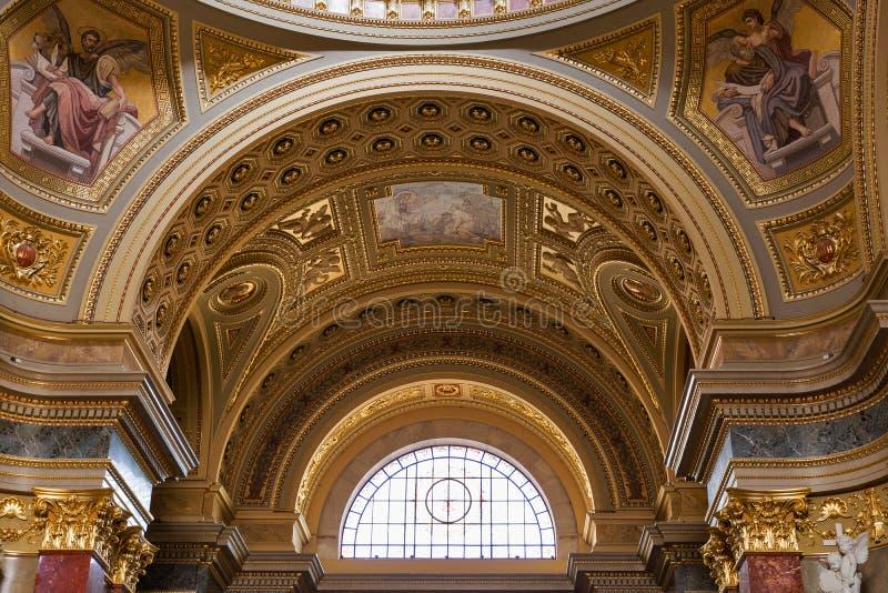 Wnętrze świętego Stephen bazylika w Budapest, Węgry zdjęcia royalty free