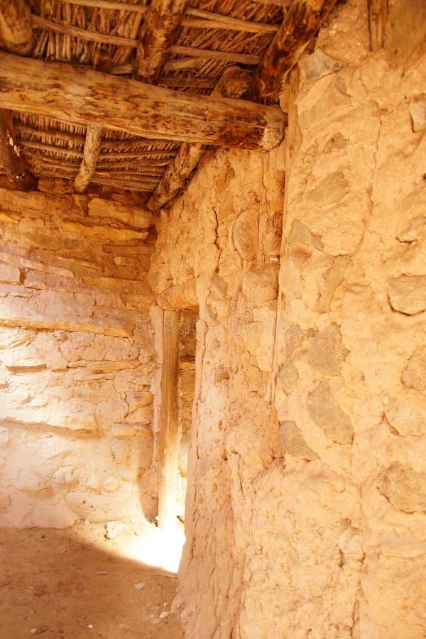 Wnętrze Anasazi osada zdjęcia stock