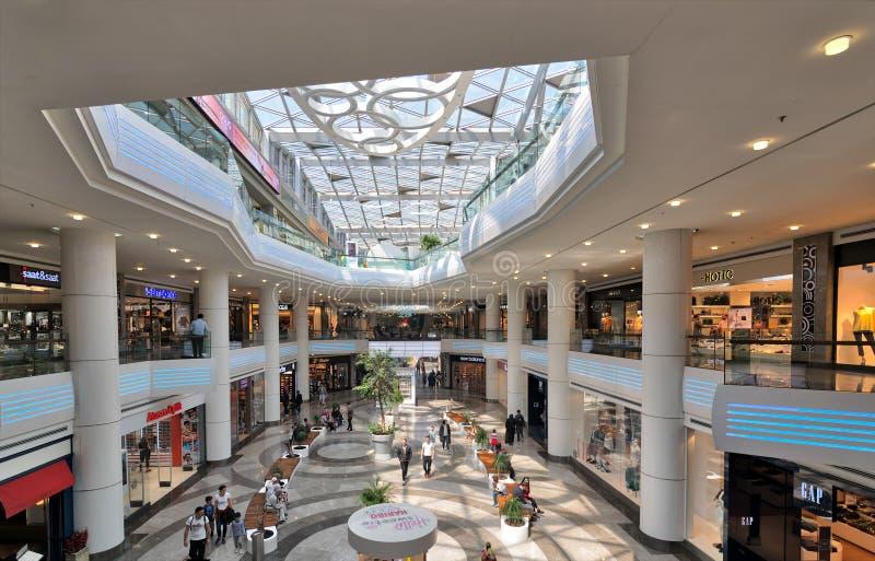 Wnętrze Aqua Florya zakupy i życie Ześrodkowywamy nadajemy się w Florya sąsiedztwie, Bakirkoy, Istanbuł, Turcja fotografia royalty free