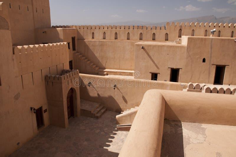 Wnętrze arabski Nizwa fort w Nizwa, Oman fotografia stock