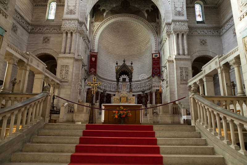 Wnętrze bazylika Martin, wycieczki turysyczne, fotografia stock