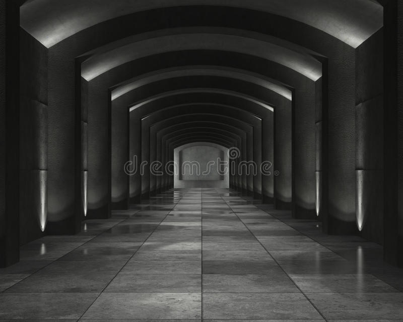 wnętrze betonowa krypta obrazy royalty free