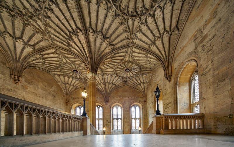 Wnętrze Bodley wierza christ kościół ogródu pamiątkowa Oxford uk wojna uniwersytet w oksfordzie england obrazy royalty free