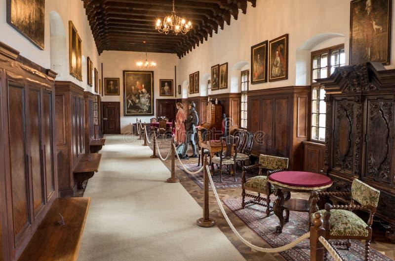 Wnętrze Bojnice kasztel, Slovakia zdjęcia royalty free