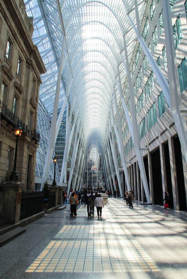 Wnętrze Brookfield miejsce w W centrum Toronto obraz stock