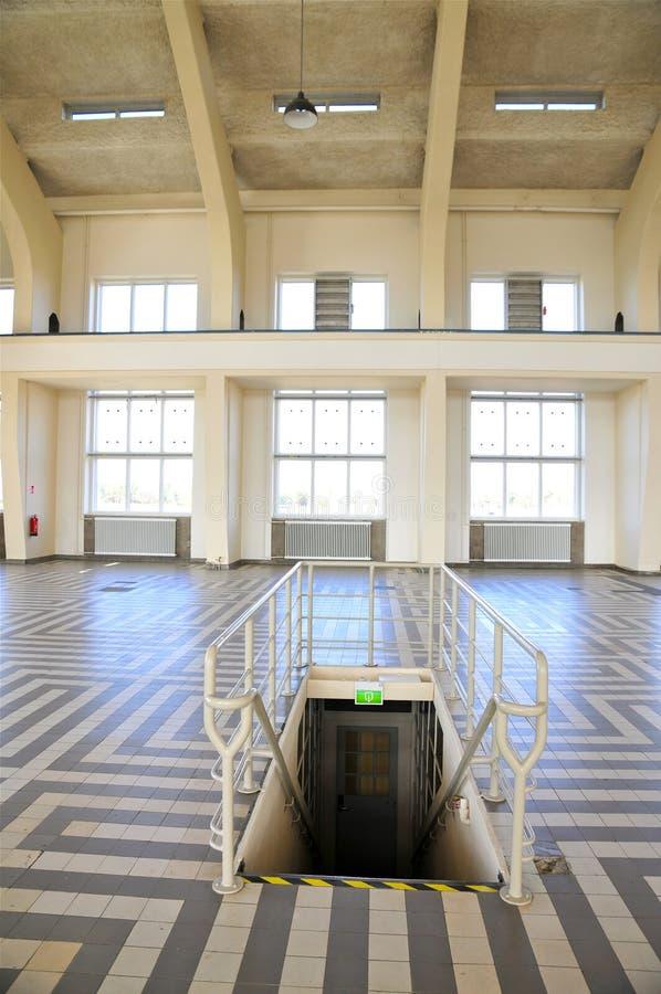 Wnętrze Budować Hall, radio Kootwijk holandie fotografia royalty free