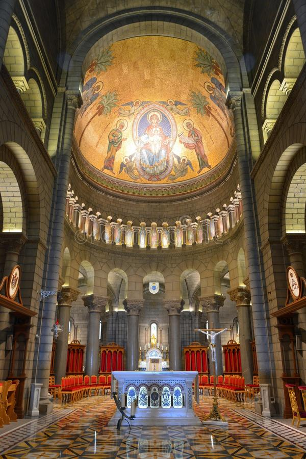 Wnętrze Cathedrale de Monaco obraz stock
