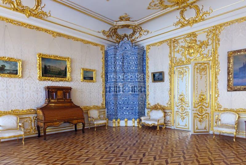 Wnętrze Catherine Pałac fotografia royalty free