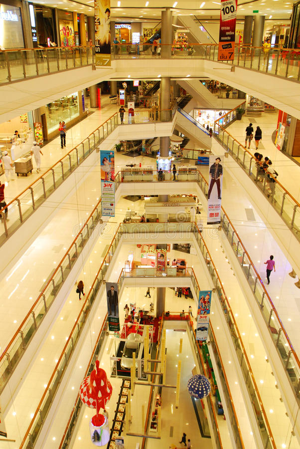 Wnętrze centrum handlowe zdjęcie royalty free