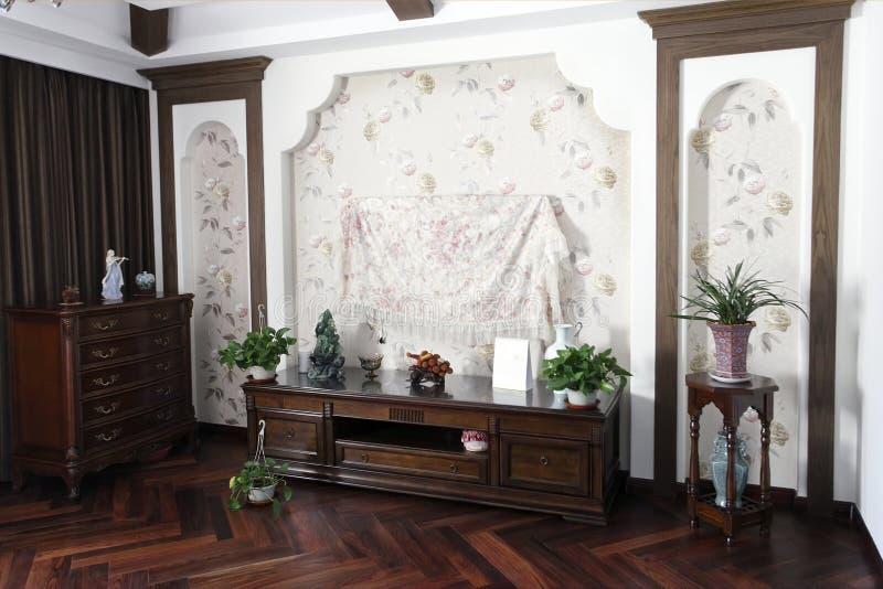 wnętrze chiński domowy styl obraz stock