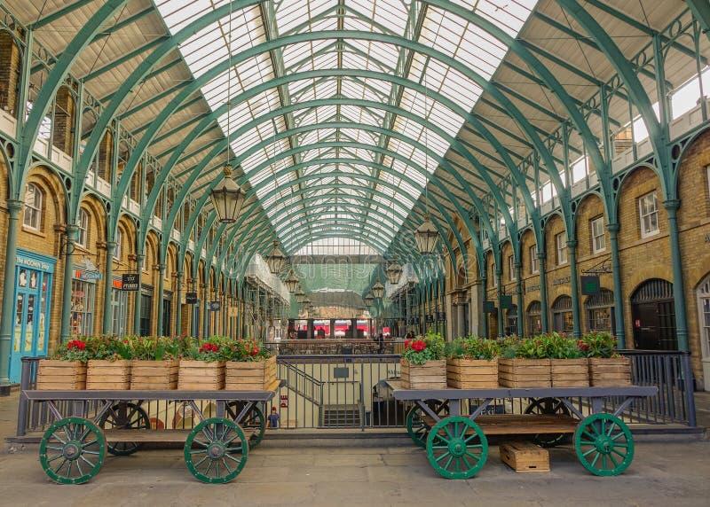 Wnętrze Covent ogródu rynek fotografia stock