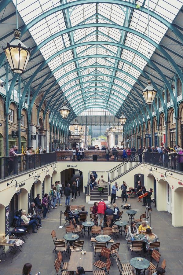 Wnętrze Covent ogródu rynek w Westminister mieście, Wielki Londyn fotografia royalty free