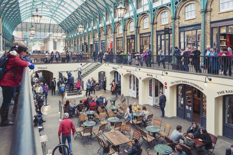 Wnętrze Covent ogródu rynek w Westminister mieście, Wielki Londyn zdjęcia royalty free