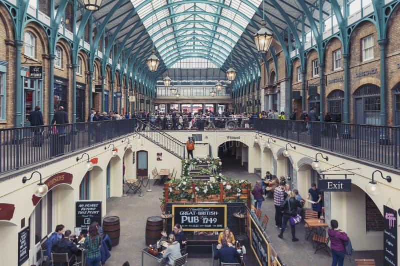 Wnętrze Covent ogródu rynek w Westminister mieście, Wielki Londyn obraz royalty free