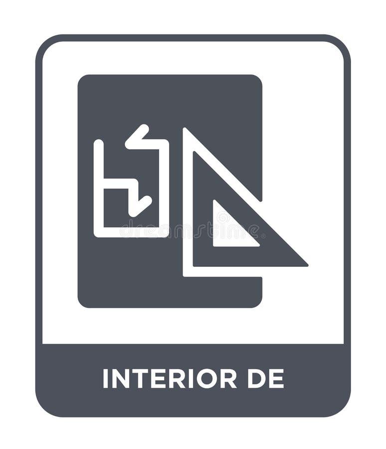 wnętrze De Ikona w modnym projekta stylu wnętrze De Ikona odizolowywająca na białym tle wnętrza De Wektor ikona prosta i nowożytn ilustracja wektor