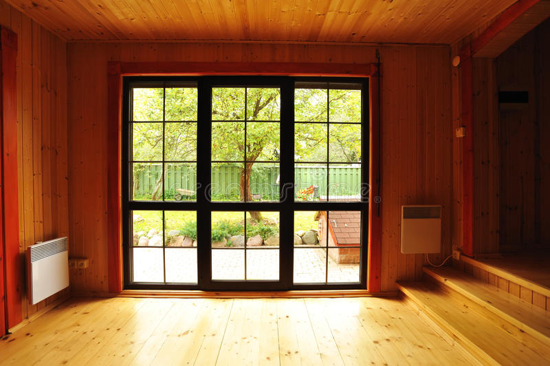wnętrze drewniany zdjęcie stock