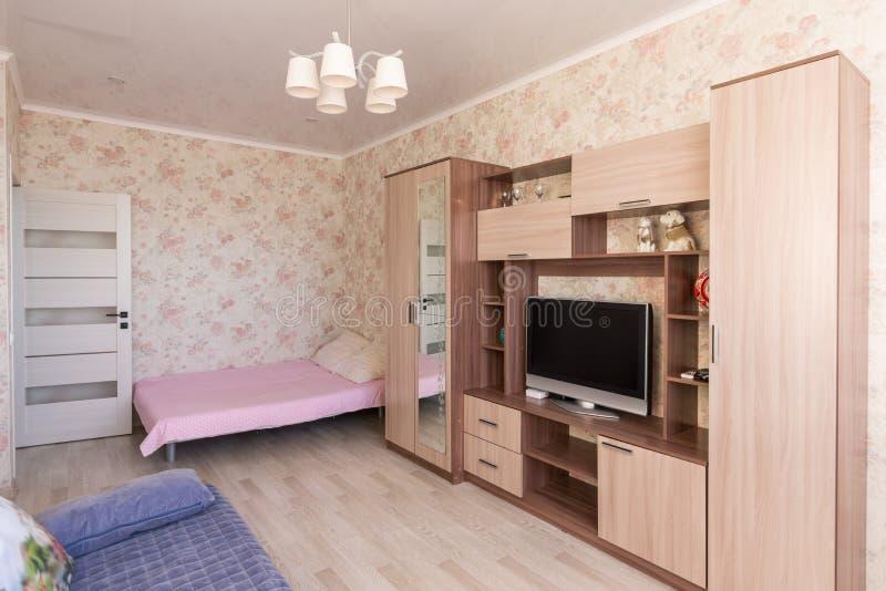 Wnętrze dwoisty pokój w hotelu obraz royalty free