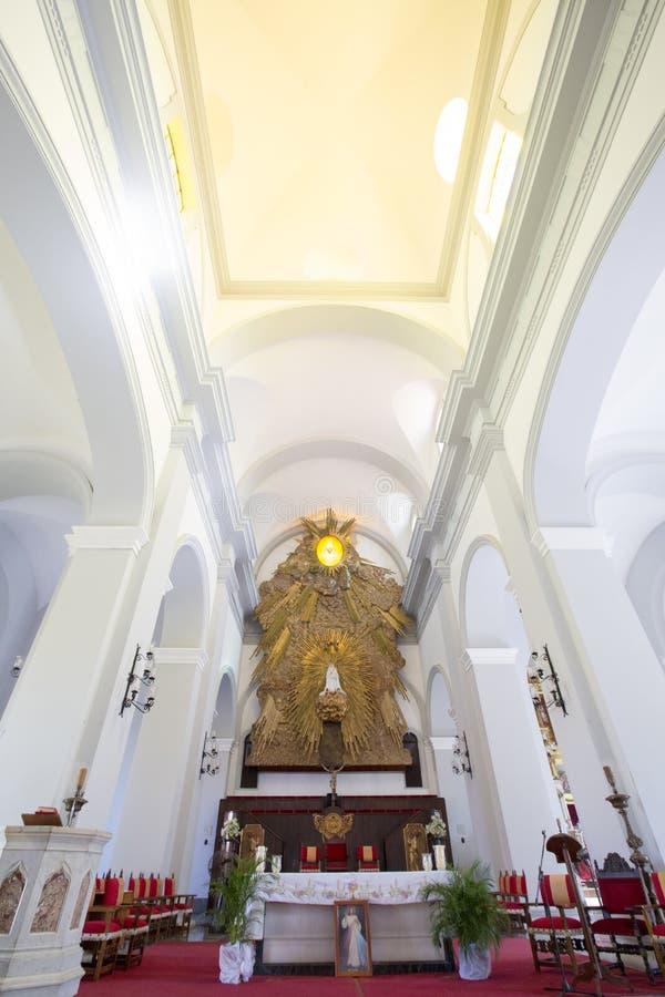 Wnętrze Evangelistic katedra, Ciudad bolivar, Wenezuela fotografia stock