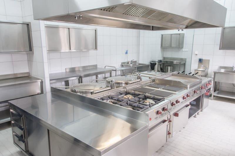 Wnętrze fachowa kuchnia fotografia royalty free