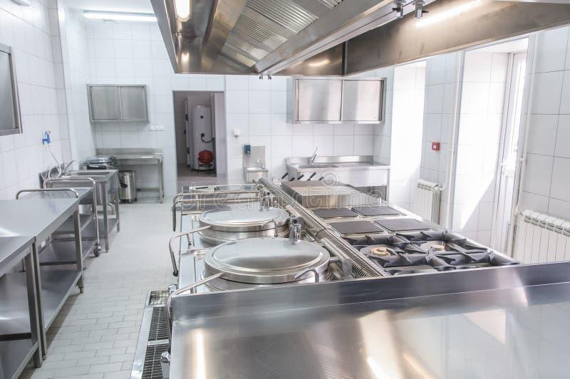 Wnętrze fachowa kuchnia obrazy royalty free