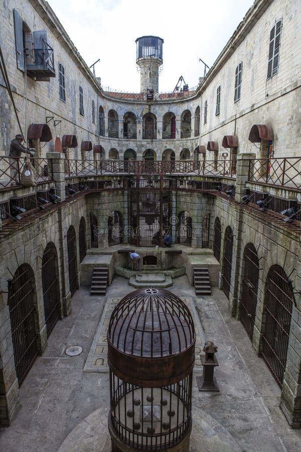 Wnętrze fort boyard w Francja, morski, Francja obraz royalty free