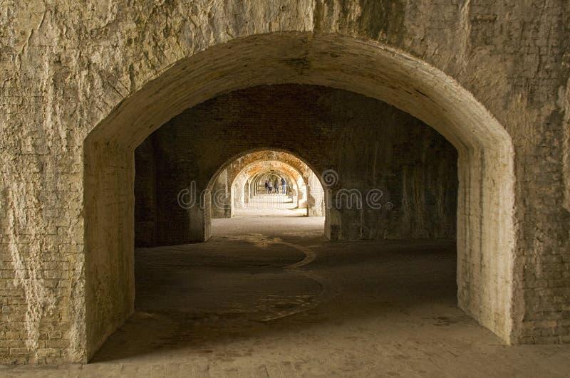 Wnętrze fort Pickens zdjęcia stock