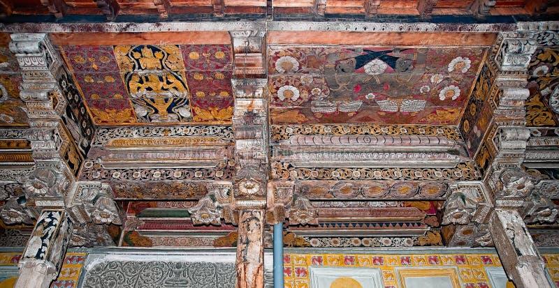 Wnętrze główna świątynia świątynia ząb w Sri Lanka. zdjęcia royalty free