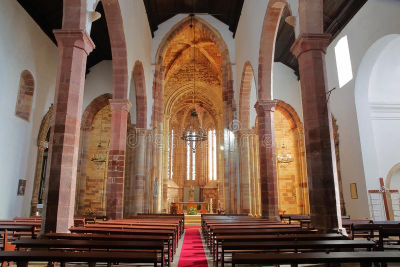 Wnętrze Gocki katedry Se zdjęcia royalty free