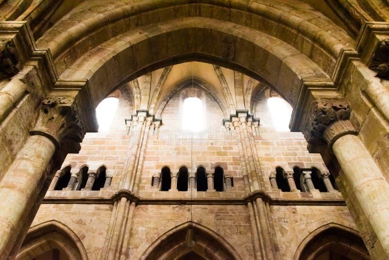 Wnętrze gothic katedra St Lorenz, Nuremberg, Niemcy zdjęcie royalty free