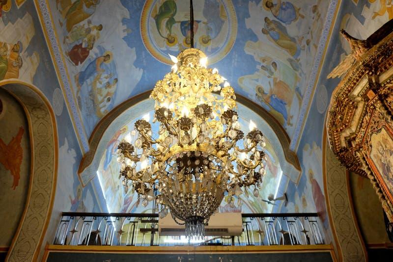 Wnętrze Greckokatolicki kościół w Nazareth obraz royalty free