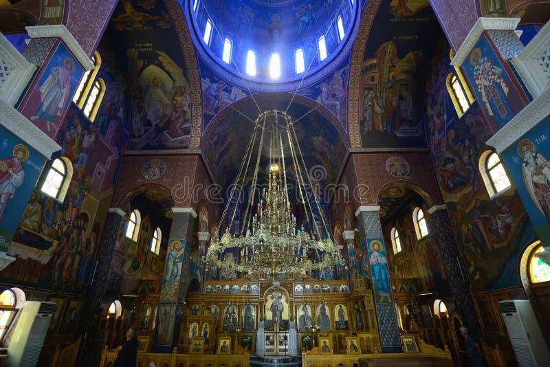 Wnętrze Greckokatolicki kościół w Rethymno fotografia stock