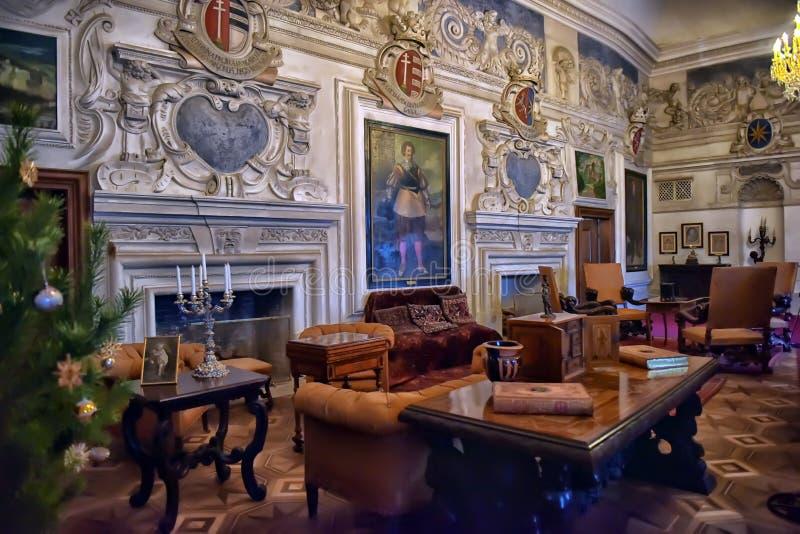 Wnętrze Grodowy czech Sternberg fotografia royalty free