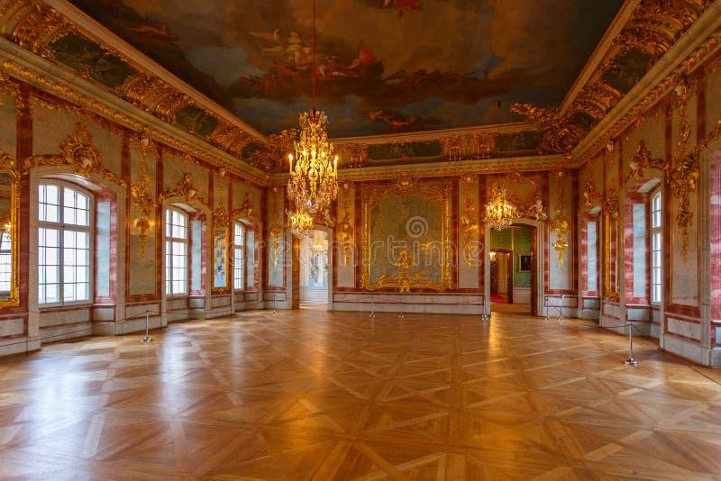 Wnętrze i szczegóły Rundale pałac, Latvia fotografia stock