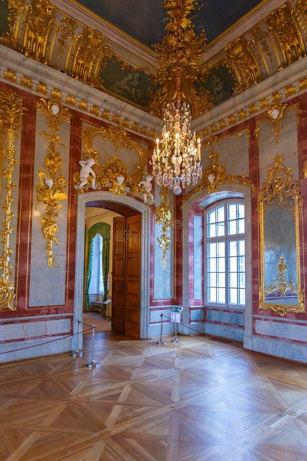 Wnętrze i szczegóły Rundale pałac, Latvia zdjęcia stock