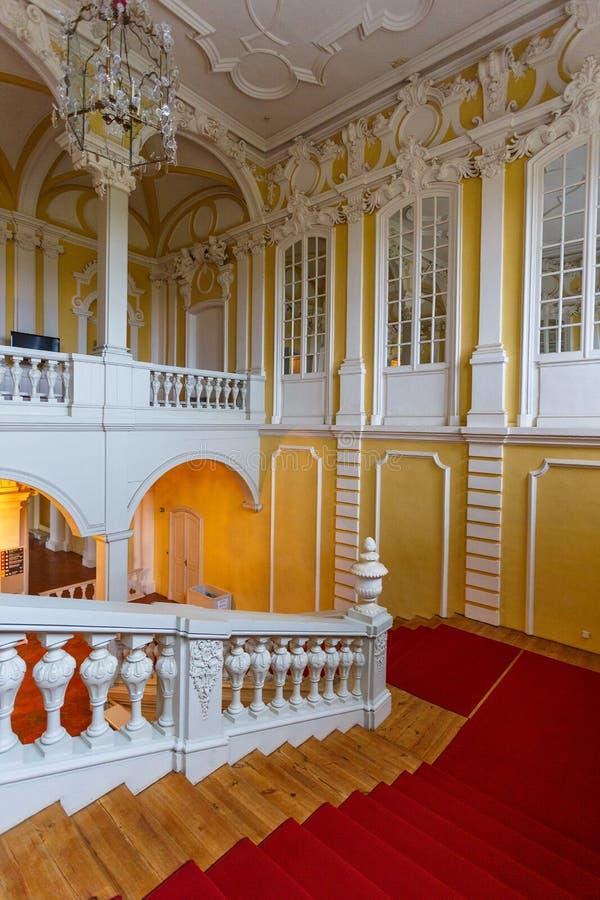 Wnętrze i szczegóły Rundale pałac, Latvia zdjęcie stock