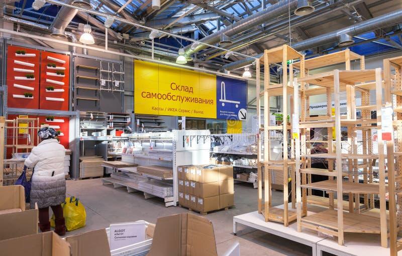 Wnętrze IKEA Samara sklep obraz royalty free