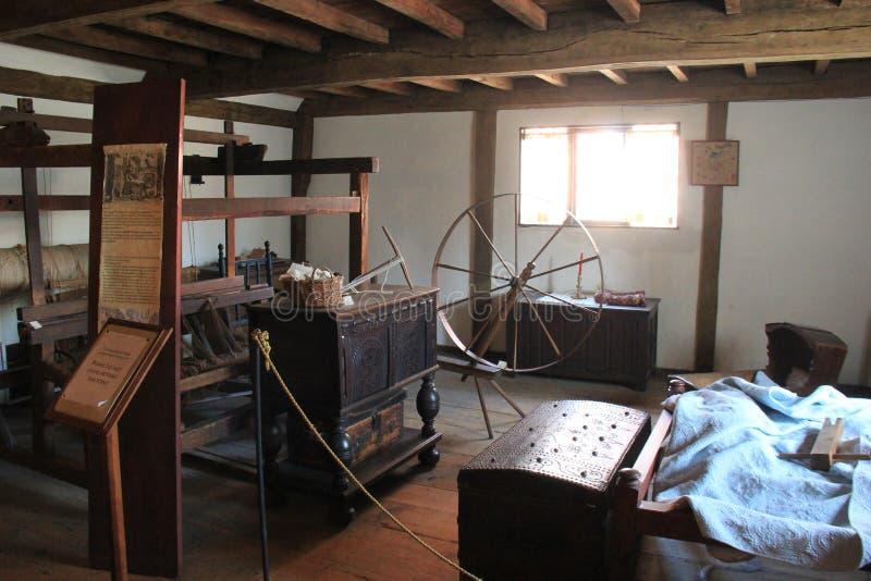 Wnętrze jeden wiele czarownic muzea z rzeczami zakrywa historię Salem, msza, 2017 obraz stock