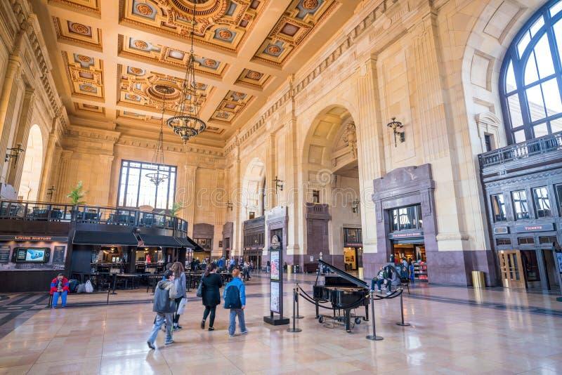 Wnętrze Kansas City zjednoczenia stacja obraz royalty free