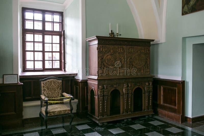 Wnętrze kasztel w Zbarazh, Ternopil region, Ukraina zdjęcia stock