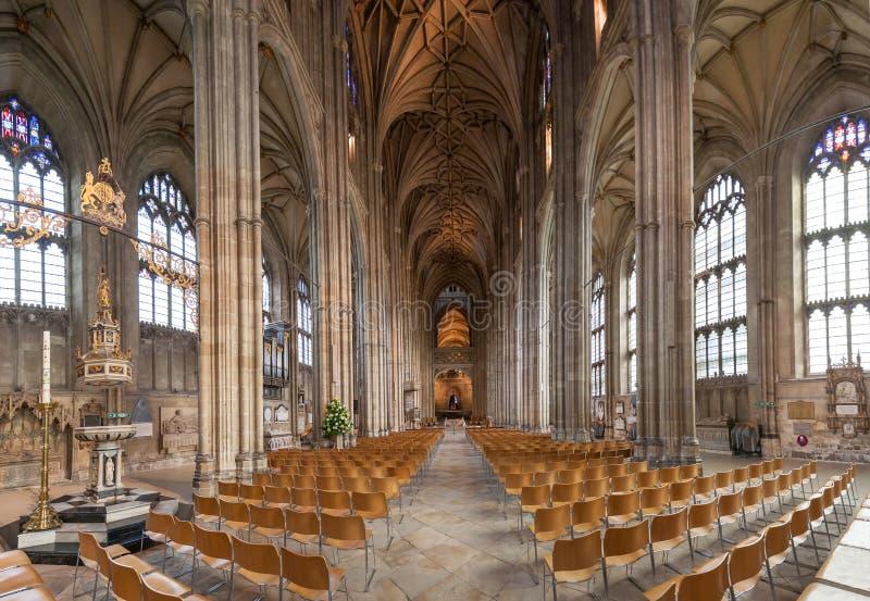Wnętrze katedra Canterbury, Kent, Anglia zdjęcia stock