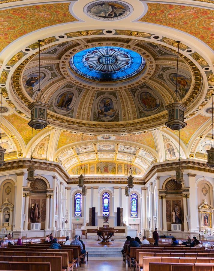 Wnętrze Katedralna bazylika St Joseph obraz royalty free